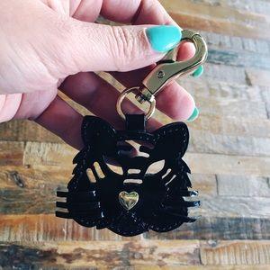 Betsey Johnson Cat / Tiger Purse Charm Keychain 😻